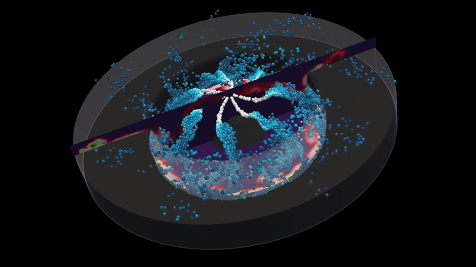 Data visualization of a combustion chamber
